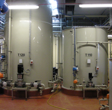 Washing wastewater treatment